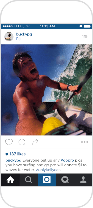 Iphone Kelly slater screenshot