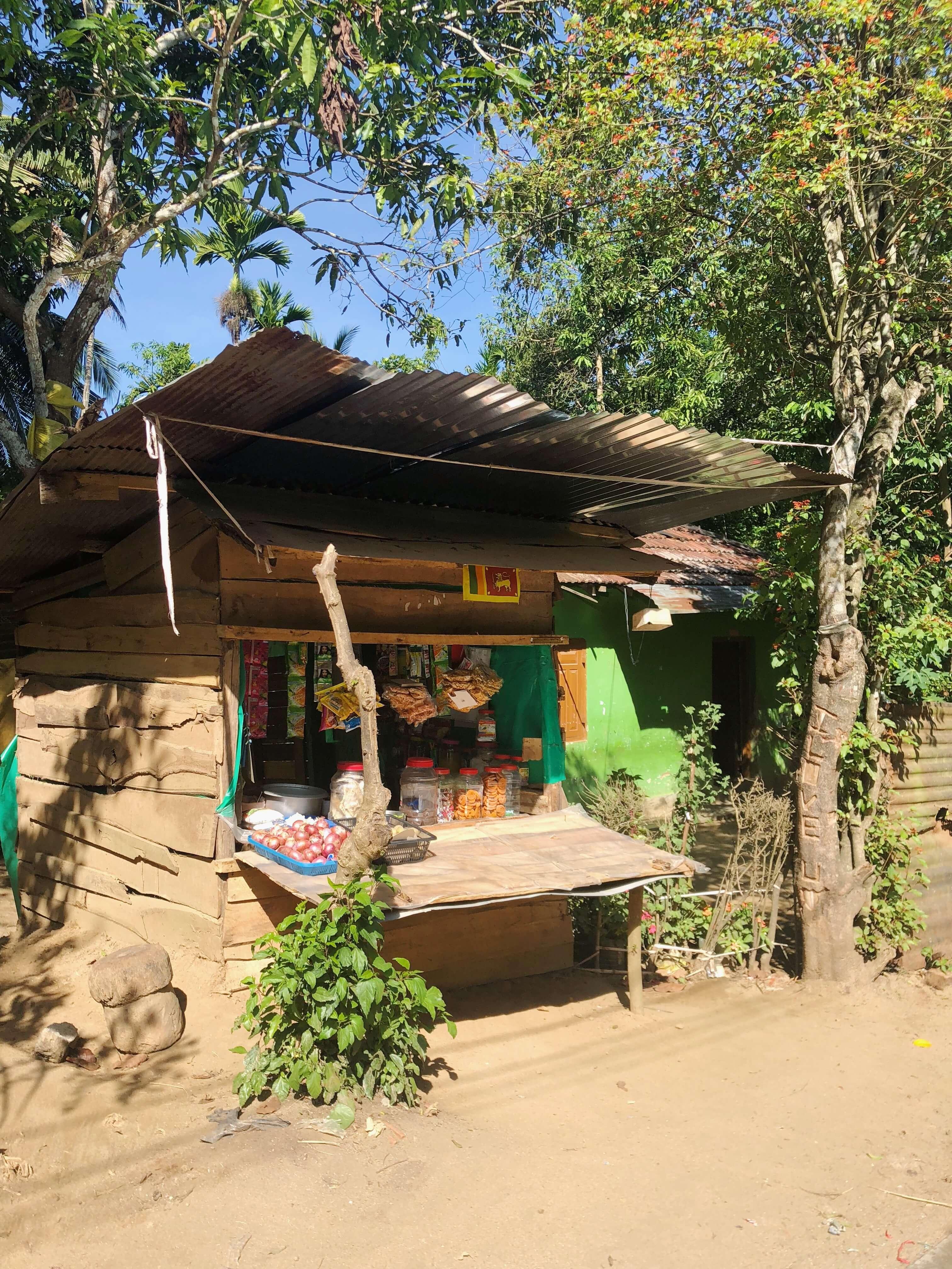 Snack Hut on the side of the road, Kandy Sri Lanka