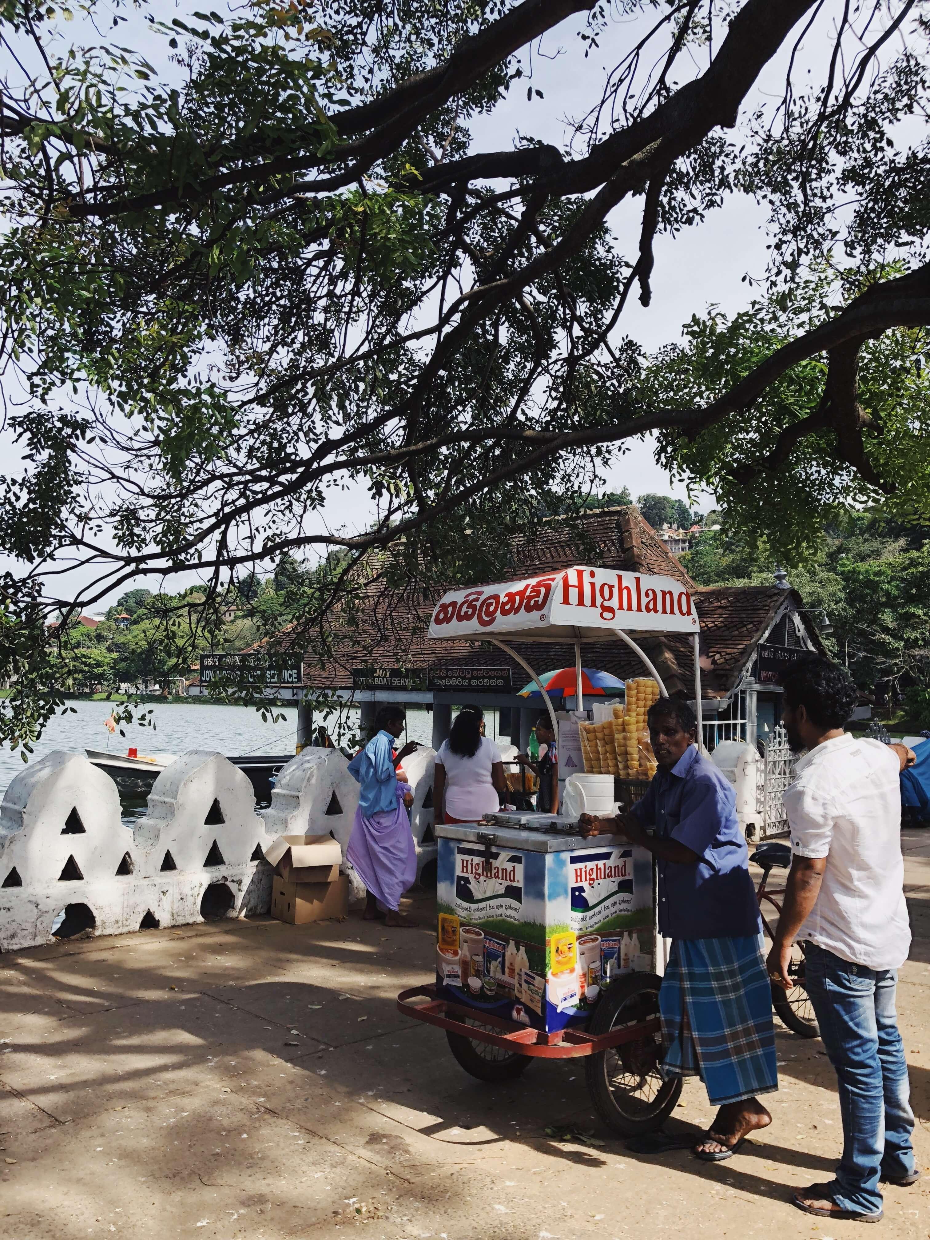 Ice cream vendor on Kandy Lake
