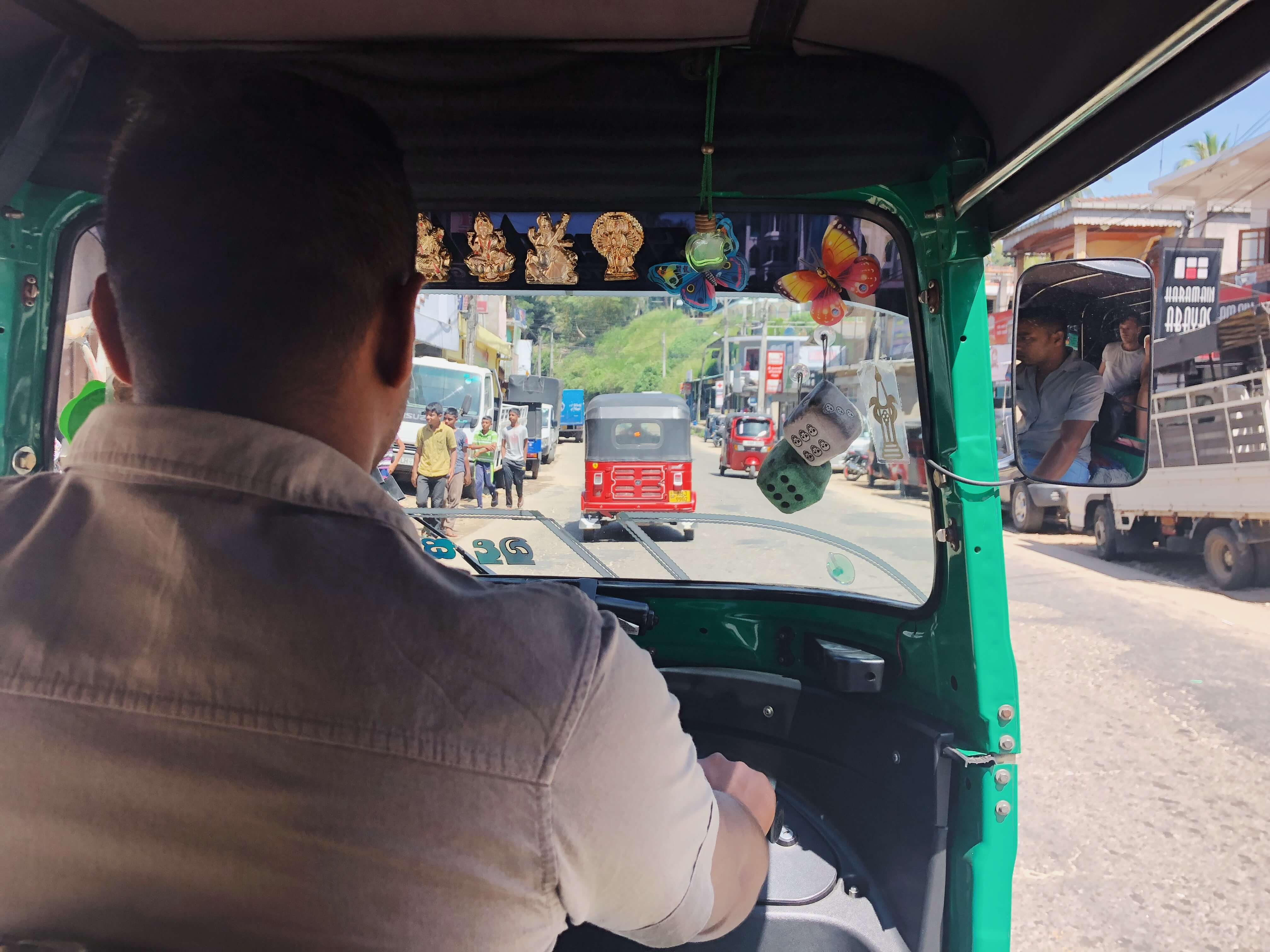 Riding the local bus in Kandy, Sri Lanka